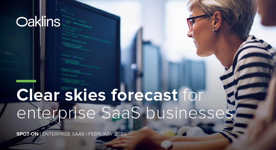 Clear skies forecast for enterprise SaaS businesses